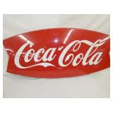20X43 1963 COCA COLA FISHTAIL SIGN