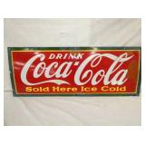 12X31 PORC COCA COLA SOLD HERE SIGN