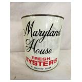 1G MARYLAND HOUSE OYSTER TIN