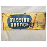 11X27 EMB MISSION ORANGE DRINK SIGN