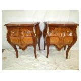 FRENCH TWO TONE MAH NIGHTSTANDS