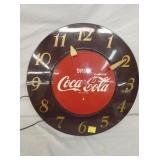 17IN COCA COLA CLOCK