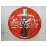 24IN PAINTED COCA COLA BUTTON