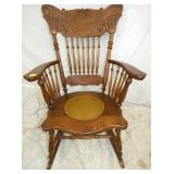 CARVED OAK ROCKER