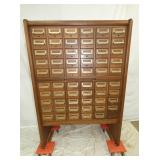 60 DRAWER MAH. CARD FILE CUPBOARD