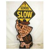 21X56 SCHOOL SLOW CROSSING SIGN