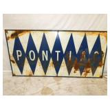 24X48 PONTIAC METAL SIGN
