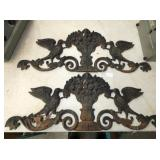 PAIR 12X31 IRON WALL SCONTCHES