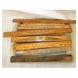 ASSORTED WOODEN ADV. RULERS