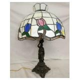17IN STAINED GLASS SHADE PARLOR LAMP