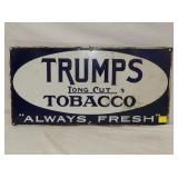 12X24 PORC. TRUMPS TOBACCO SIGN