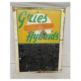 18X24 GRIES HYBRIDS PRICING SIGN