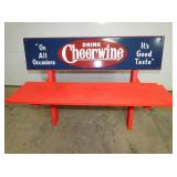 EMB. CHEERWINE SIGN BENCH
