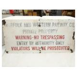 18X38 N&W PRIVATE PROPERTY SIGN