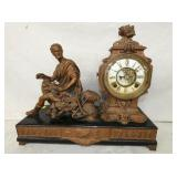 FIGURAL ANSONIA  MANTEL CLOCK