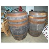 (2) 55G. WHISKEY BARRELS