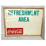 18X23 COKE REFRESHMENT AREA SIGN