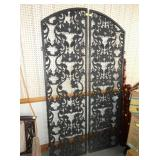 48X87 WROUGHT IRON DOUBLE GATES