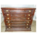 24X28 WALNUT 6 DRAWER SPOOL CABINET
