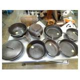 9-12IN CAST IRON POTS/PANS
