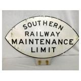17X24 SOUTHERN RR MAINTENANCE SIGN