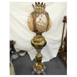 30 IN. RARE SHELL GLOBE PIANO LAMP