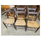 6 MATCHING MULE BACK CHAIRS