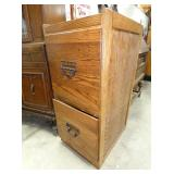 2 DRAWER OAK FILE