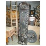 ROPE TWIST OAK GRANDFATHER CLOCK CASE