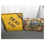 DEAD END, TOURIST GUIDE SIGNS