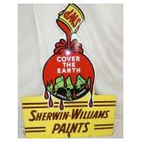 42X57 PORC. SHERWIN WILLIAMS PAINT SIGN
