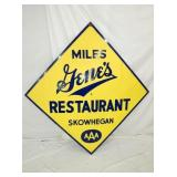 68IN PORC. MILES GENES RESTAURANT SIGN