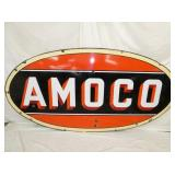 RARE 48X96 PORC. AMOCO SIGN