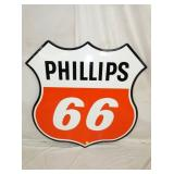 48IN 1959 PORC. PHILLIPS 66 SHIELD SIGN