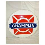 6FT. 1956 PORC CHAMPLIN GAS SIGN