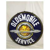 5FT. PORC OLDSMOBILE SERVICE DEALER SIGN