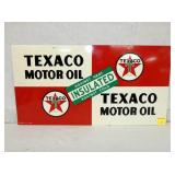 11 1/2X21 1948 TEXACO MOTOR OIL SIGN