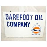 45X70 PORC GULF OIL HEAT SIGN