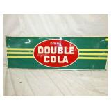 18X54 EMB. DOUBLE COLA SIGN