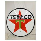 6FT. PORC 1964 TEXACO SIGN