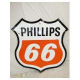 6FT. PORC PHILLIPS 66 SHEILD SIGN