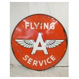 6FT. PORC FLYING A 1956 SERVICE SIGN
