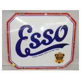 25 1/2X30 PORC. ESSO ETHYL SIGN