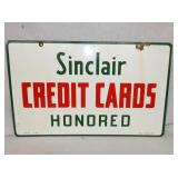 14X23 PORC. SINCLAIR CREDIT CARDS SIGN