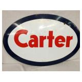 22X33 PORC CARTER SIGN RARE SIZE