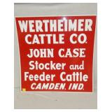 28X28 WERTHEIMER CATTLE REFLECTIVE SIGN