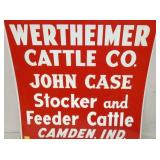 VIEW 2 CLOSEUP JOHN CASE CATTLE SIGN