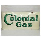 VIEW 2 OTHERSIDE PORC COLONIAL GAS SIGN
