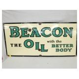 23X49 PORC BEACON OIL SIGN