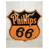48X48 PORC EMB. PHILLIPS 66 NEON SIGN